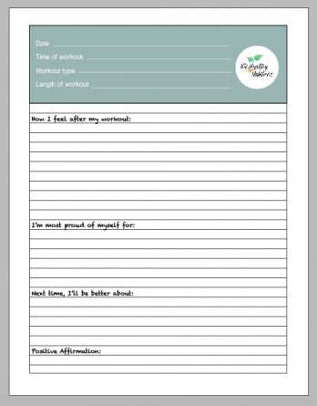 THH 30 Day Fitness Journal